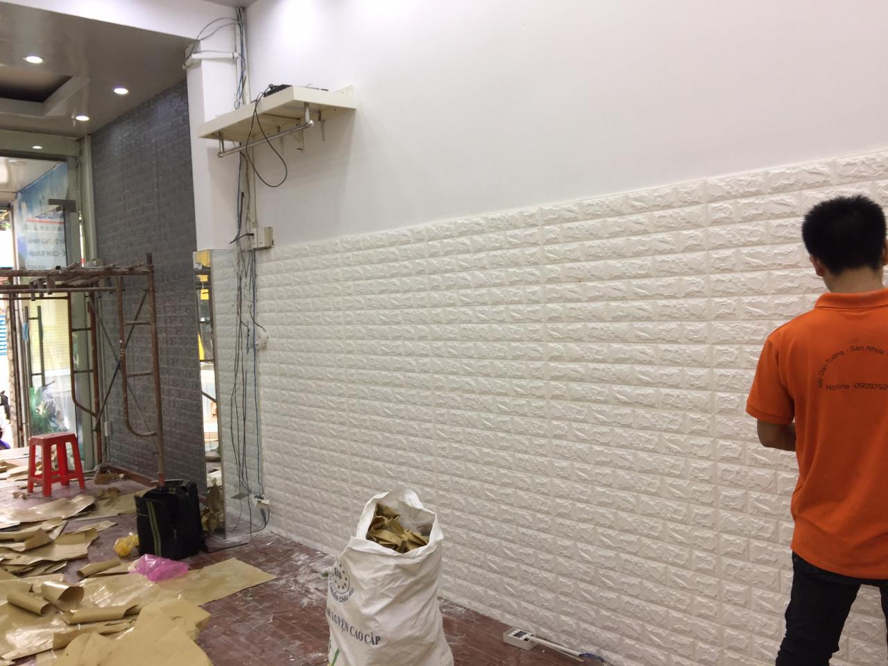 miếng dán tường 3g giả gạch