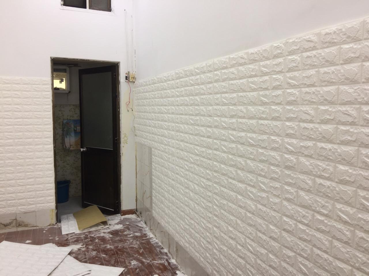 miếng dán tường giả gạch đẹp