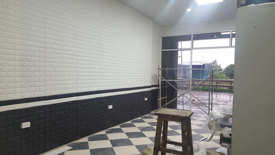 miếng dán tường màu xám