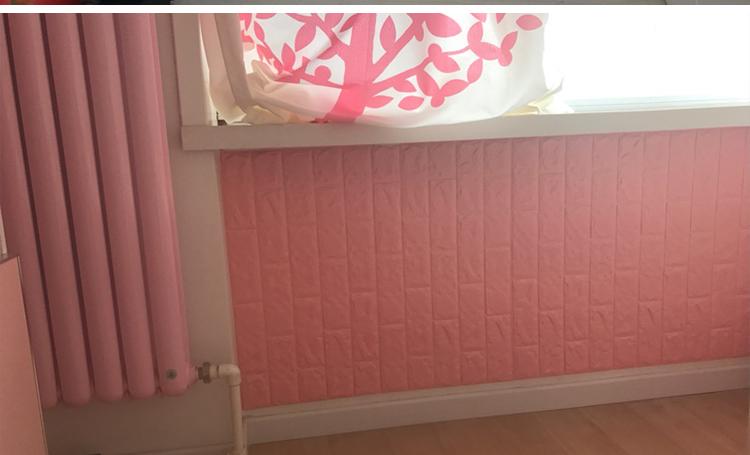 xốp dán tường màu hồng