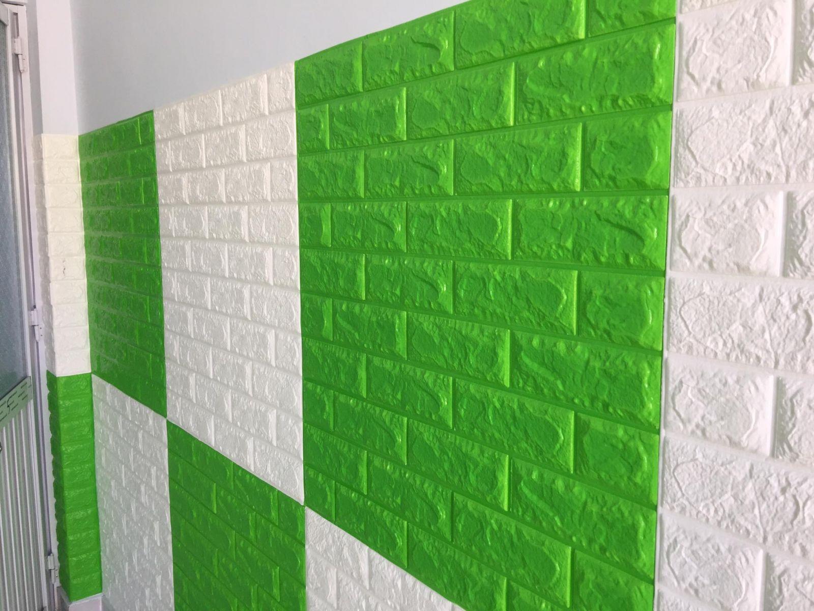 xốp dán tường xanh lá